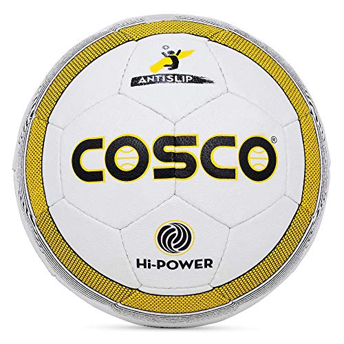 Cosco Hi-Power Volley Ball, Size 4 (White/Black/Yellow)