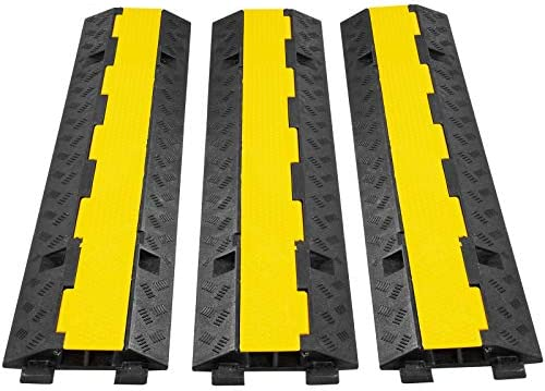 2-Channel Heavy Duty Wire Cover Cable Cord Road Ramp Protector PVC And Rubber