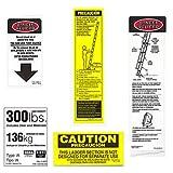 Werner 300 LB Fiberglass Extension Ladder Label Kits (Pack of 6)