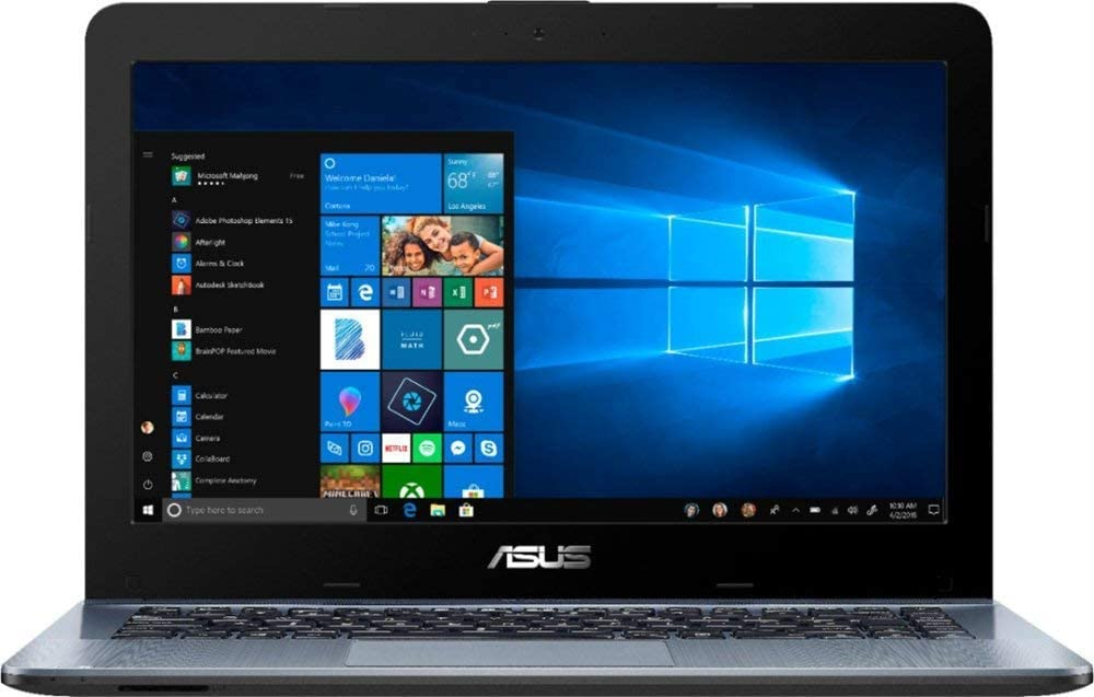 "Latest_ASUS 14.0"" HD Widescreen LED Display High Laptop, A6-Series Processor, 4GB DDR4 RAM,500GB HDD, HDMI, Webcam, Wireless+Bluetooth, Window 10"