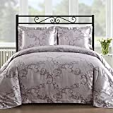 Comfy Bedding Silk Feel Cotton Blend 450 TC 3-piece Duvet Cover Set (Queen, Lavender)