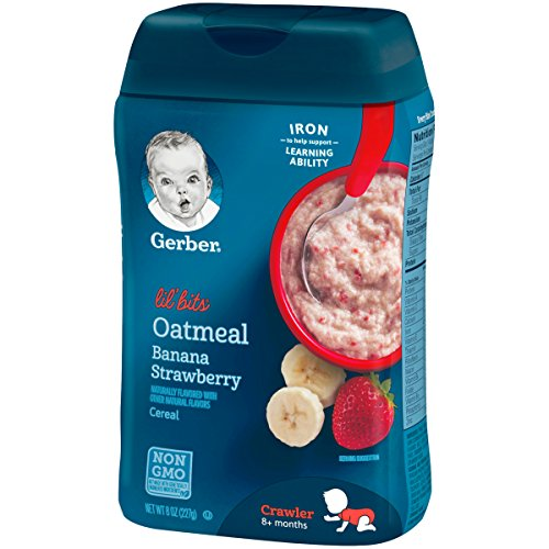 Gerber Lil Bits Oatmeal Banana Strawberry Baby Cereal 8
