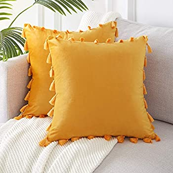 Amazon.com: Topfinel - Fundas de cojín decorativas para sofá ...