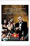 Ufcell Tin Sign Metal Poster Plate 8'x12' of Dos Equis Beer: Most Interesting Man in The World Decor Sign