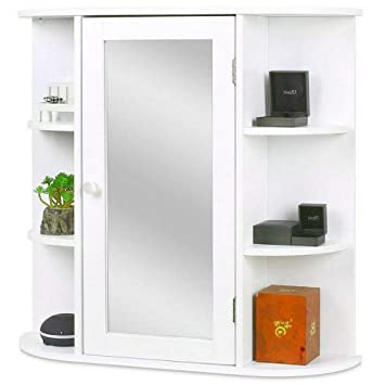 Amazoncom Bathroom Medicine Cabinet Wall Mounted Mirrored Bathroom