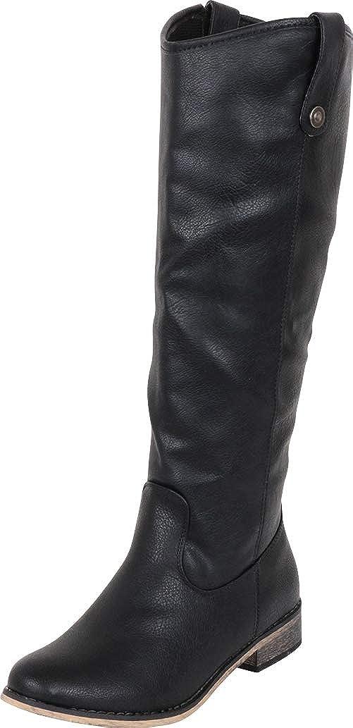 Black Pu Cambridge Select Women's Western Riding Knee-High Cowboy Boot
