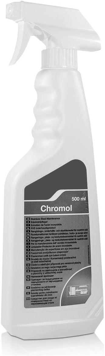 Higien Shop Limpiador Protector de Superficies de Acero Inoxidable - Botella Spray 500ml