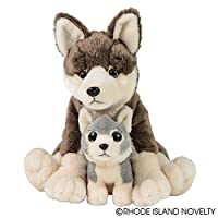 "Adventure Planet Birth of Life Wolf with Baby Plush Toy 12"" H"