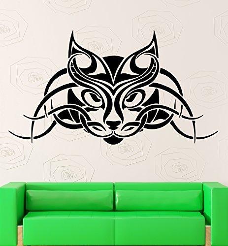 Lynx Wall Stickers Animal Tribal Predator Cat Pet Tattoo Vinyl Decal (ig757)