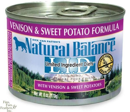 Natural Balance Canned Dog Food, Grain Free Limited Ingredient Diet Venison and Sweet Potato Recipe, 12 x 6 Ounce Pack, My Pet Supplies