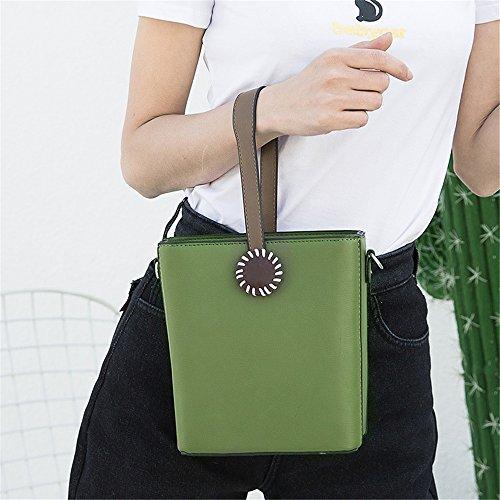Sac Asdflina Usage Simple Vert à bandoulière pour Sac bandoulière à Un bandoulière Quotidien à rétro PU Portable Sac Convient rrBqOvT