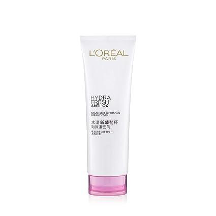 L'Oreal Paris Hydrafresh Anti-Ox Grape Seed Creamy Foam, 125ml