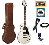 Oscar Schmidt OE20WH LP Style Electric Guitar Cali Bundle - Alpine White