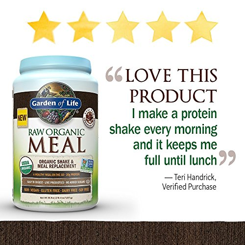Garden-of-Life-Meal-Replacement-Organic-Raw-Plant-Based-Protein-Powder-Chocolate-Vegan-Gluten-Free-359oz-2lb-4oz1017g-Powder