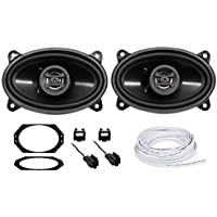 Jeep Wrangler Tj 97-02 Hifonics 4x6 Front Factory Speaker Replacement+Harness