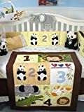 SoHo Baby Crib Bedding 10Pc Set, Jungle Numbers