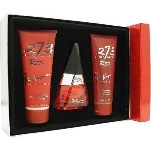 Fred Hayman 273 Red By Fred Hayman For Women. Set-eau De Parfum Spray 2.5 OZ & Body Lotion 6.7 OZ & Shower Gel 6.7 OZ