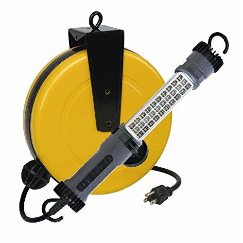 LED Retractable Reel Work Auto Shop Repair Light 300 Lumen Alert Stamping 3230SMS ()