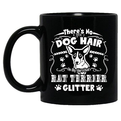 Rat Terrier Ceramic Mug - Rat Terrier Glitter Teacup, Black Coffee Mug 11oz