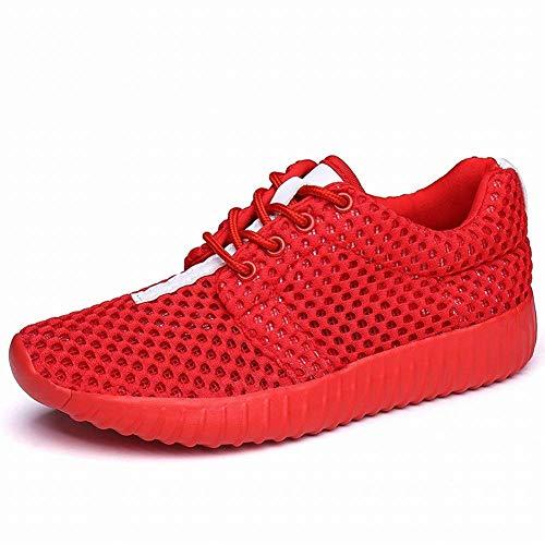 Oudan Chaussures De Loisirs En Plein Air Respirantes Pure Color Mesh Shoes Ont Augmenté Mode Pour Femmes (coloré : Blanc, Taille 35) Rouge