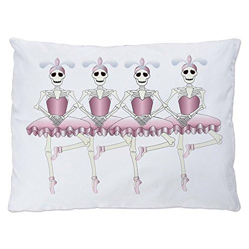 Indoor Luxury Plush Dog Bed Dancing Ballarina Skeletons En Pointe ()