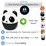 DUETS by My Audio Pet– World's 1st PAIRABLE Mini Bluetooth Animal Wireless Speakers- TRUE WIRELESS STEREO TECHNOLOGY- Use w/ iPhone, iPad, iPod, Samsung, Tablets, Apple, Android & more- PANDAmonium