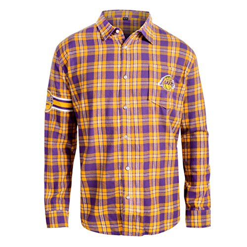 - Los Angeles Lakers Wordmark Basic Flannel Shirt Small