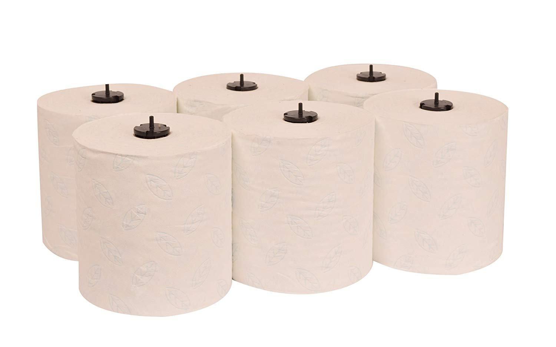 Paper Hand Towel Rolls (2-Pack/ 12 Rolls Total)