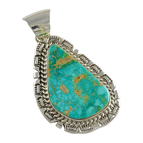 Royston Turquoise Pendant (Augustine Largo Sterling Silver Royston Turquoise Pendant)