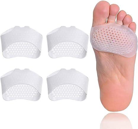 2 paires de coussinets pour métatarse en gel souple pour femme et homme Mortons Neuroma calus métatarse pour soulager la douleur du pied oignon