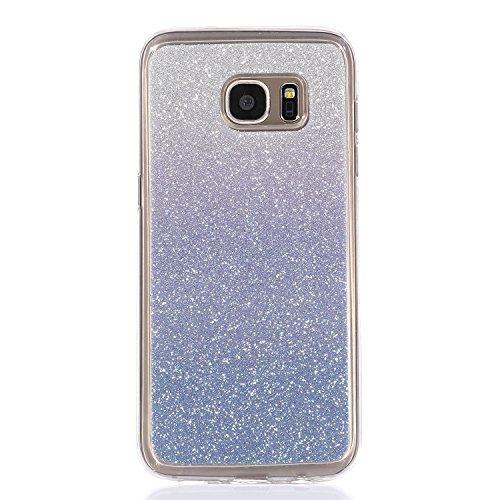 Funda para Galaxy S6 Edge, funda de silicona transparente para Galaxy S6 Edge, Galaxy S6 Edge Case Cover Skin Shell Carcasa Funda, Ukayfe caso de la cubierta de la caja protectora del caso de goma Ult Color 4
