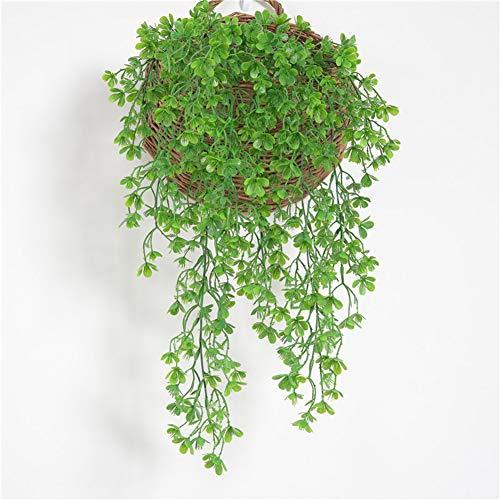 (Braceus 1Pc Artificial Plant Vine Leaf Home Garden Flower Arrangement DIY Wall Decor Beautiful Realistic Plants Greenery Restaurant Hotel Desk Decoration)