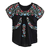 Kafeimali Women%27s Peasant Tops Mexican