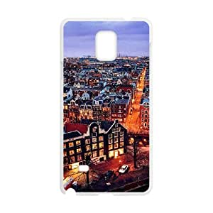 Samsung Galaxy Note 4 Cell Phone Case Covers White amsterdam City as a gift E4498680