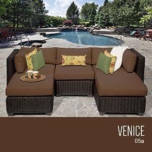 TKC Venecia 5piezas al aire libre mimbre muebles de jardín de