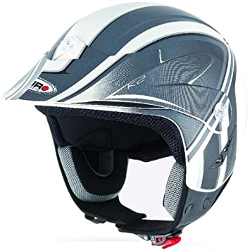 Shiro SH-65 K2 Graphic - Casco de moto para trial, color gris.