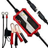 #3: Foval Automatic Trickle Battery Charger 12V 1000mA Smart Motorcycle Battery Charger Maintainer