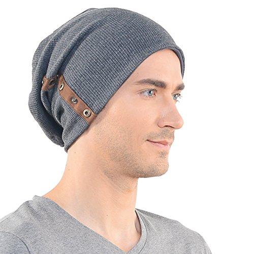 Stylish Men Gray Slouchy Button Beanie Cap Unisex B020  Amazon.in  Clothing    Accessories 84efcc1c7e2c