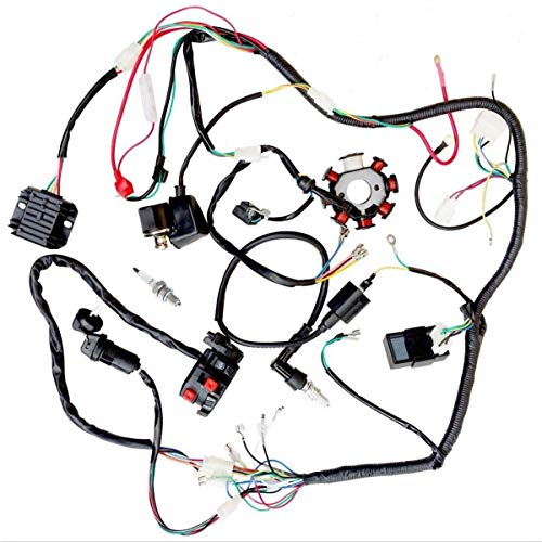 JIKAN Annpee Complete Electrics Wiring Harness Wire Loom Magneto Stator GY6 4-Stroke Engine Type 125CC 150CC Pit Bike Scooter ATV Quad