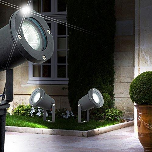 Éclairage Luminaire Noir Del Pince Aluminiu 2 Extérieur À X Lampe EDI9WH2