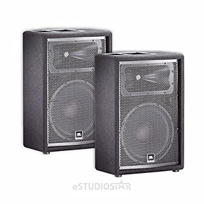 JBL JRX212 12' Passive Two-Way Stage Monitor Speaker Pair PA Package by JBL Pro