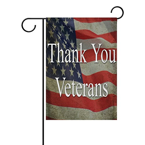 (ALAZA Veterans Day Garden Flag Vertical Double Sided Print Spring Summer Happy Memorial Day Independence Day Yard Decorative 12 x 18)