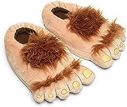 Ibeauti Kids Furry Monster Adventure Slippers, Comfortable Novelty Warm Winter Hobbit Feet Slippers for Boys G