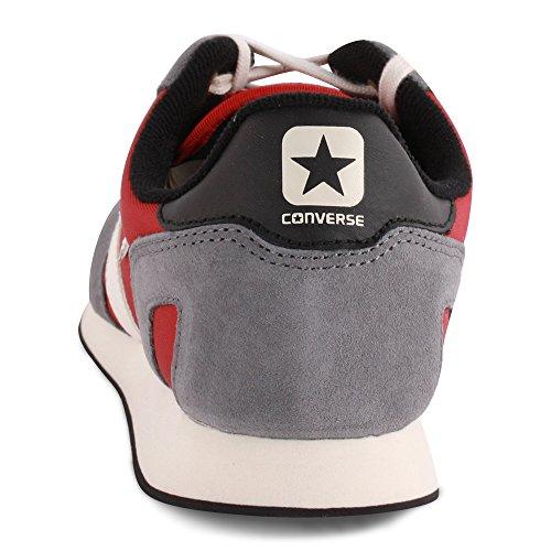 Converse - Converse Auckland racer ox Zapatos Deportivos Hombre Gruis Rojo Cuero Rojo / Gris