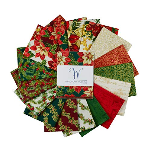 Christmas Fat Quarter Bundle - Windham Fabrics Whistler Studios A Song of Christmas Fat Quarter Bundle Multi 17 Pcs