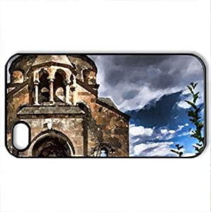 st. hripsime church in armenia hdr - Case Cover for iPhone 4 and 4s (Watercolor style, Black)