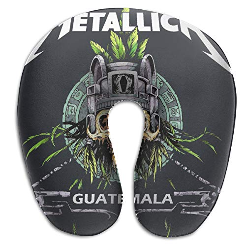 Reneealsip Metallica Guitar Rock Band Heavy Metal Travel Pillow Memory Foam Airplane Comfortable U Shape Neck Pillow -
