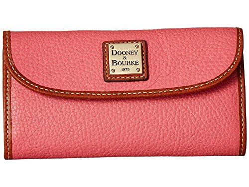 Dooney & Bourke Pebble Leather Continental Clutch Bubble Gum