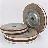 FINCOS 2pcs 125/150mm Sand Paper Buffing Wheel Abrasive Cloth Flap Wheel with Flange Polishing Sanding Wheels Grinding Wheels Abraser - (Color: 150mm 100grit)