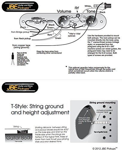 51knk0sMr7L amazon com jbe joe barden modern t style pickup set for fender joe barden pickup wiring diagram at webbmarketing.co